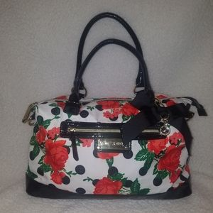 Betsey Johnson Polka Dot Rose Bag